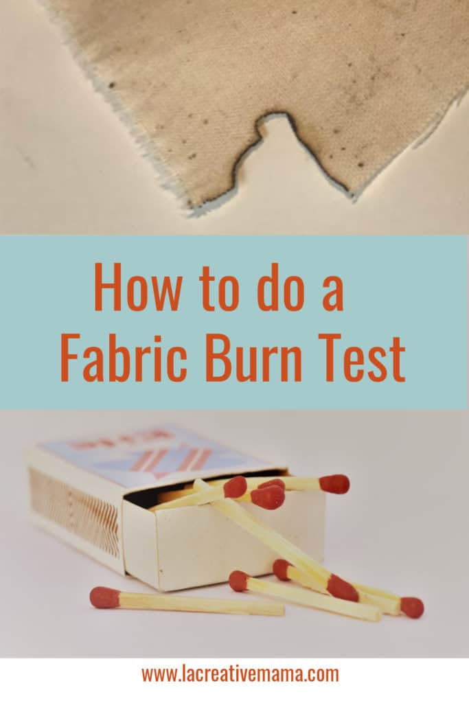 How to do a fabric burn test