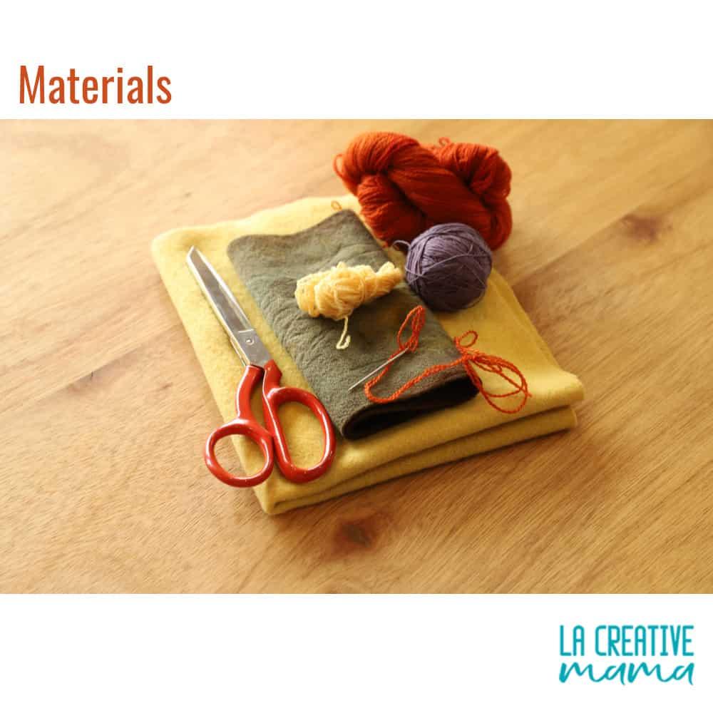 fabric flower materials