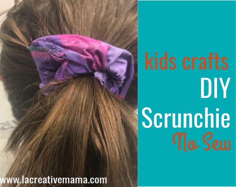 DIY scrunchie no sew