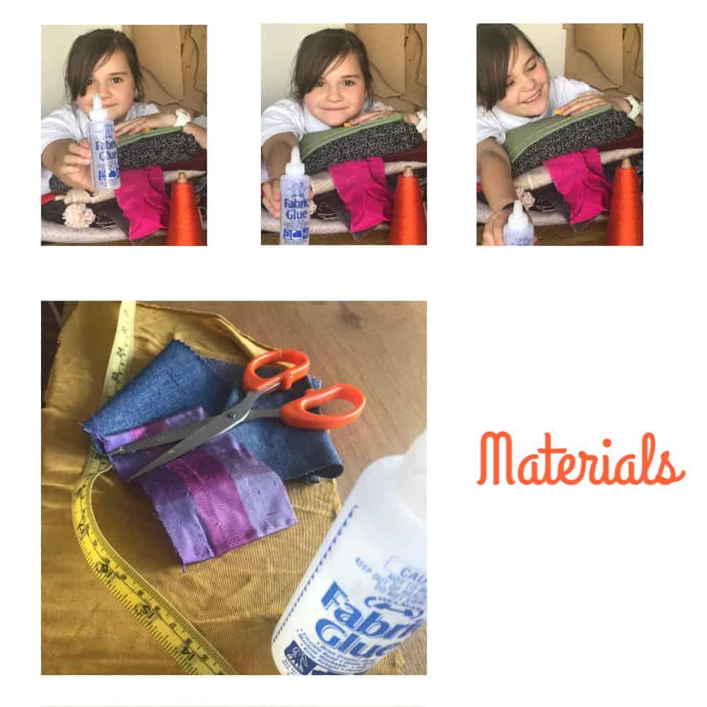 DIY scrunchie materials