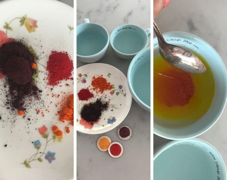food color dyes to dye wool yarn and paper