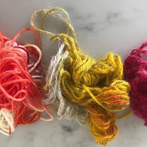 dyeing wool yarn with food coloring tutorial for kids