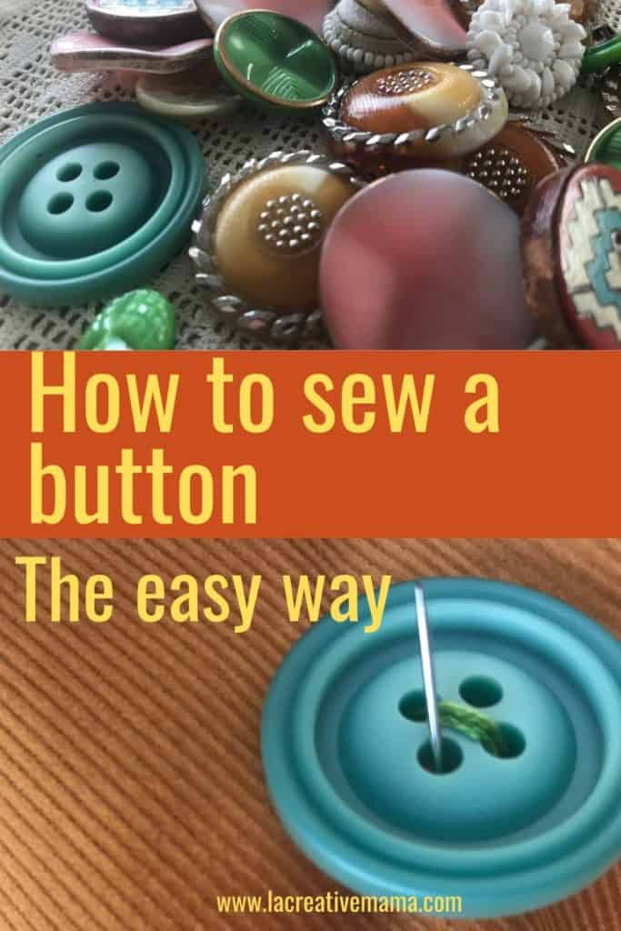 DIY  how to sew a button