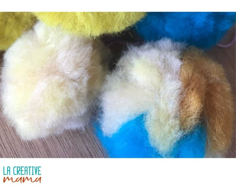 wool roving natural dyed crafts