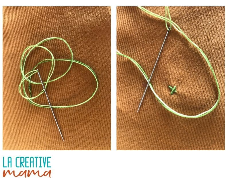 how to sew a button on fabric