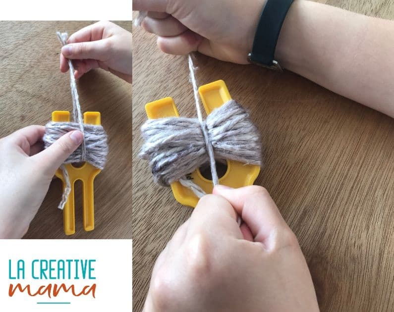 pom pom making tutorial using hand dyed yarn