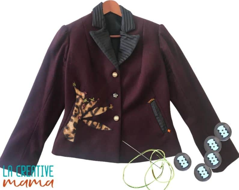 sew a button on a tailored jacket