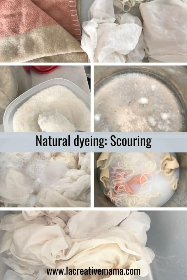 natural dyeing scouring
