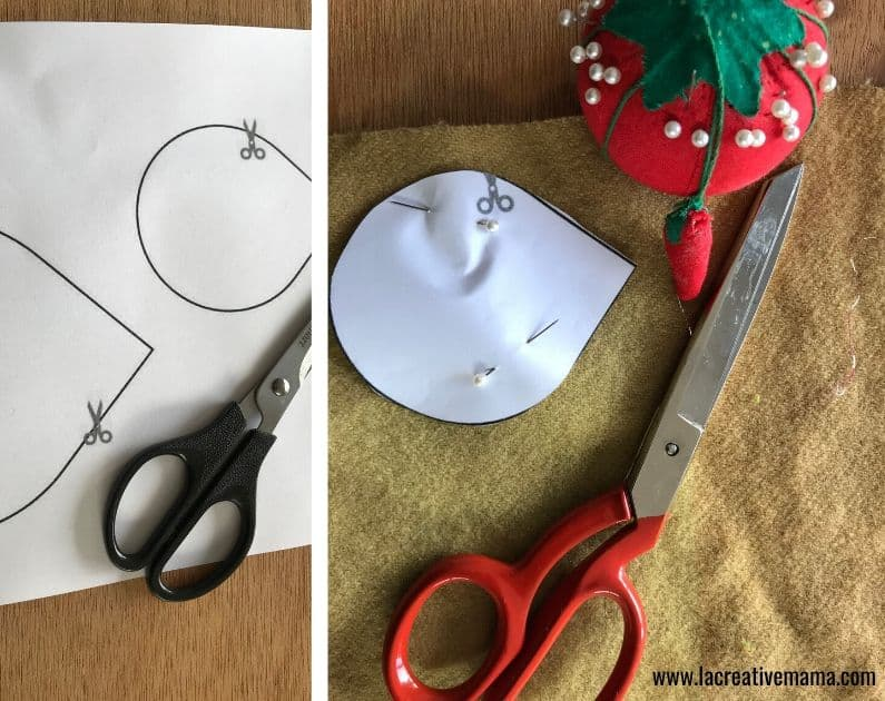 fabric hedgehog tutorial is an easy craft for kids to do at home
