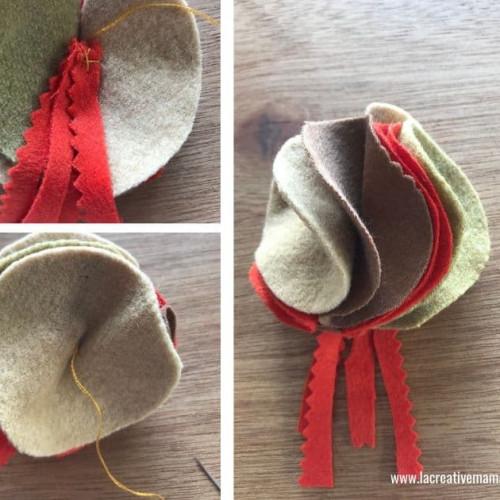 easy DIY fabric flower brooch
