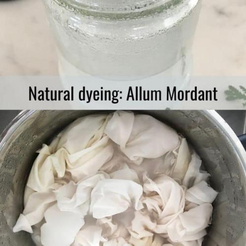 natural dyeing mordant