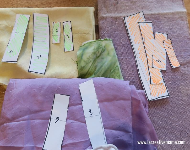 making a log cabin quilt block to make a simple quilt