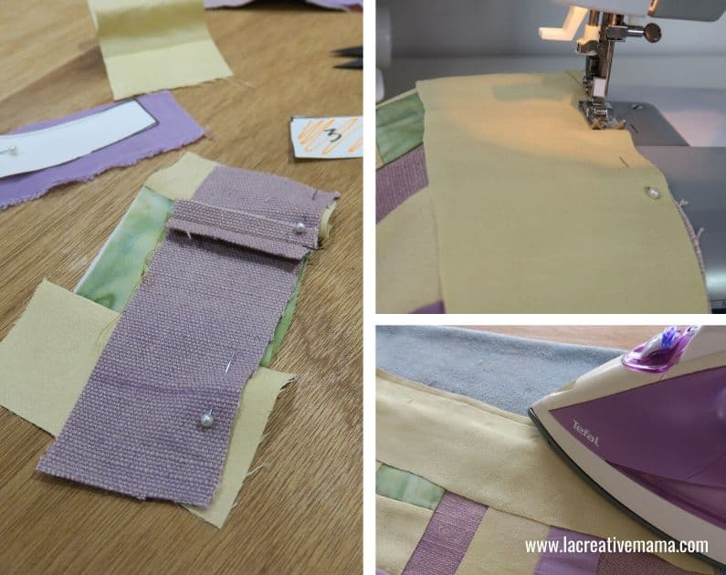 making the log cabin pattern and quilt to make a simple quilt in one day