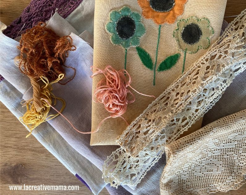 how to give fabric  a vintage look