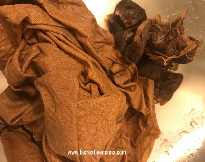 dye fabric with tea