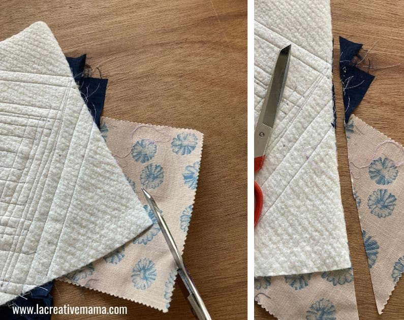 quilt as you go log cabin quilt Tutorial