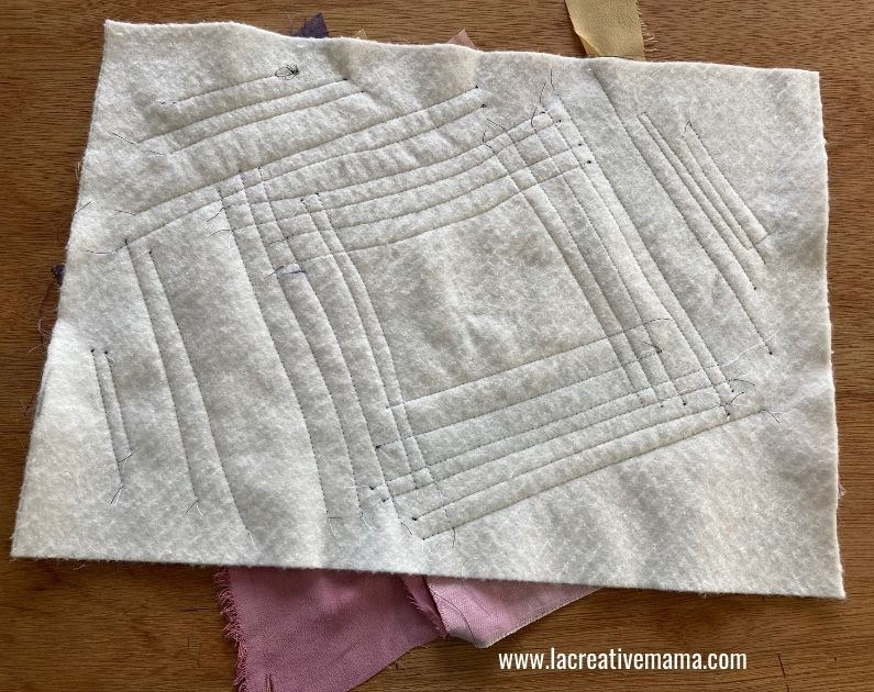 Quilt as you go block with wonky sashing Tutorial