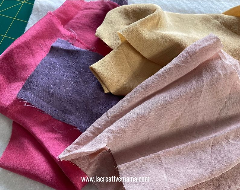 natural dyeing silk
