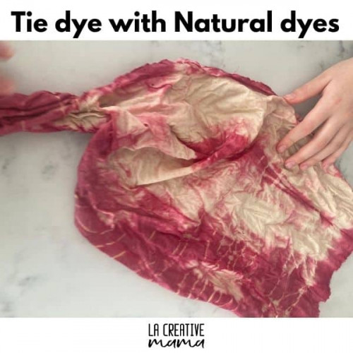 tie dye with natural dyes