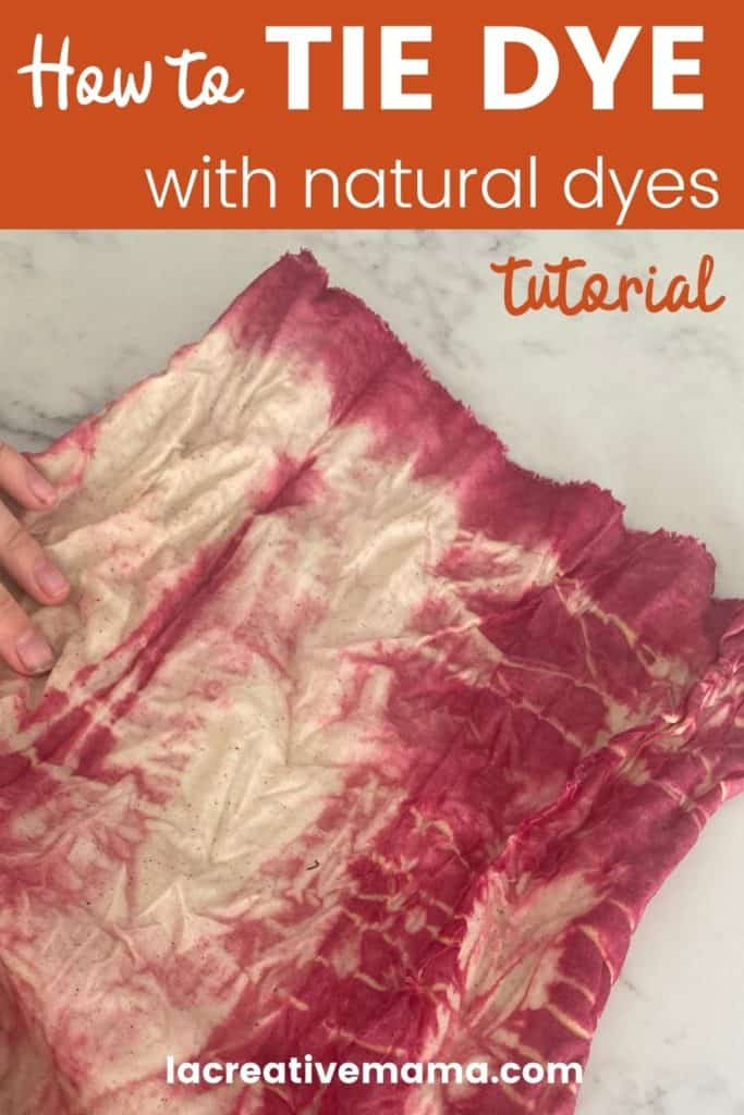 tie dye with natural dyes tutorial