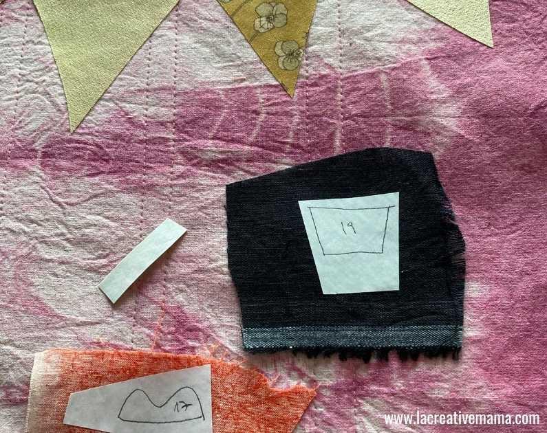 fabric book cover tutorial 11. Using la creative mama free applique patterns