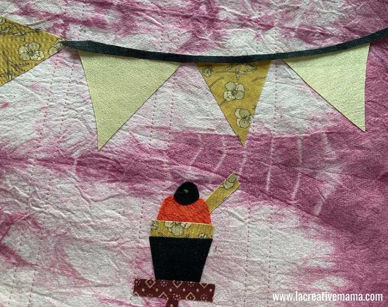 fabric book cover tutorial 19. Using la creative mama free applique patterns