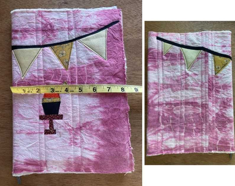 fabric book cover tutorial 25. Sewing the padded book cover and book sleeves