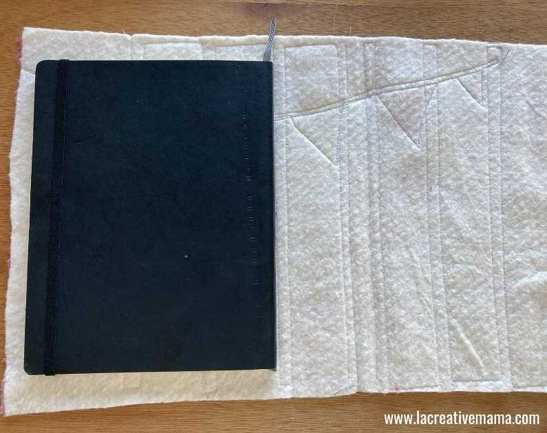 fabric book cover tutorial 26. Sewing the padded book cover and book sleeves