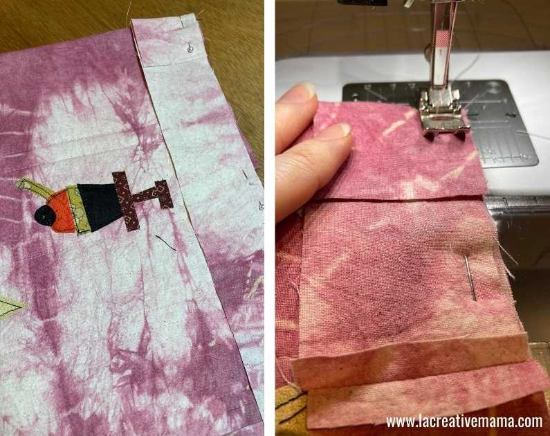 fabric book cover tutorial 39.Sewing  the fabric book.