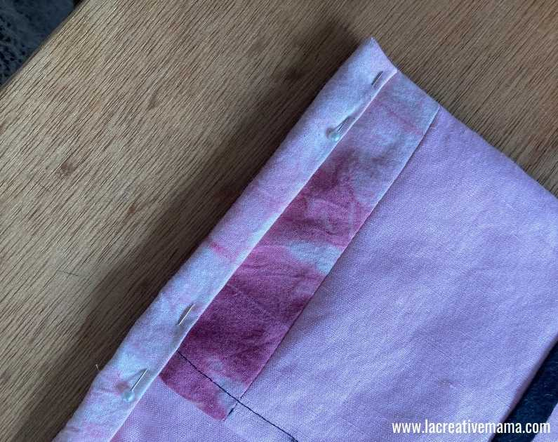 fabric book cover tutorial 41.Sewing  the fabric book.