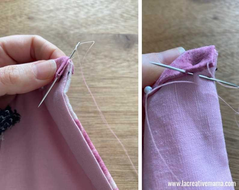 fabric book cover tutorial 43.Sewing  the fabric book, binding the edges.