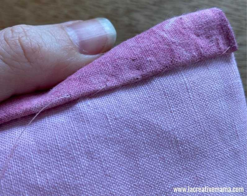 fabric book cover tutorial 44.Sewing  the fabric book, binding the edges.