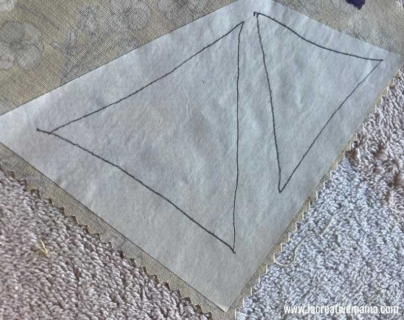 fabric book cover tutorial 10. Using la creative mama free applique patterns