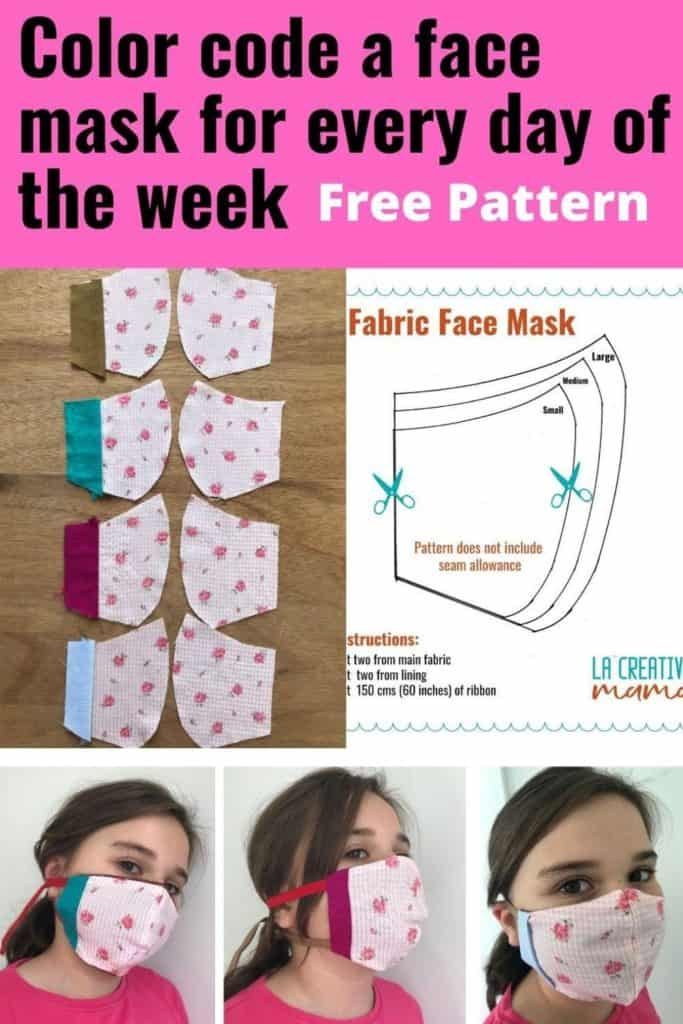 DIY Fabric face masks for kids Free Patterns