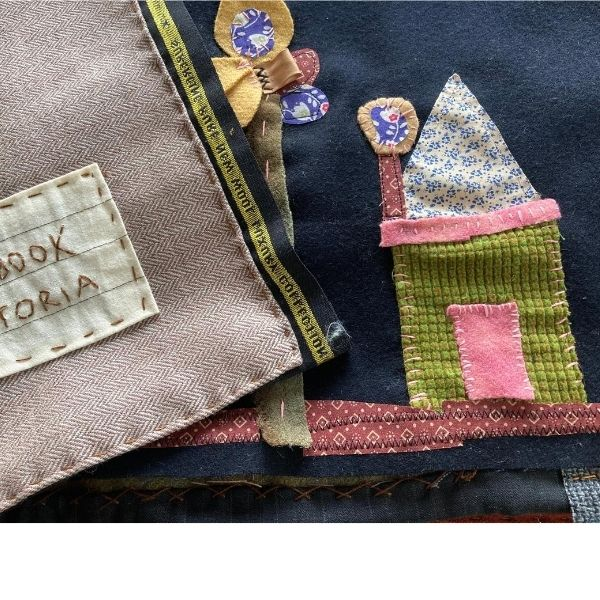 fabric collage, sewing crafts