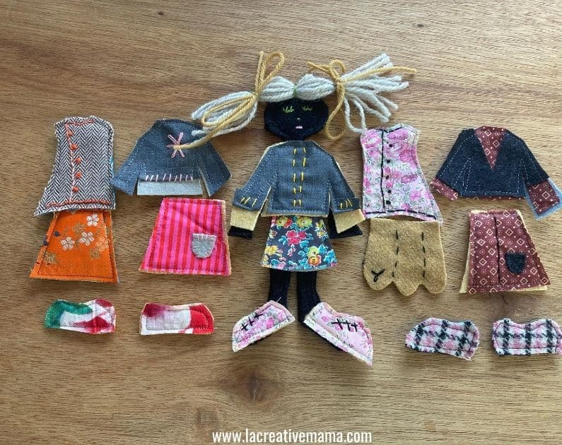 flat felt doll