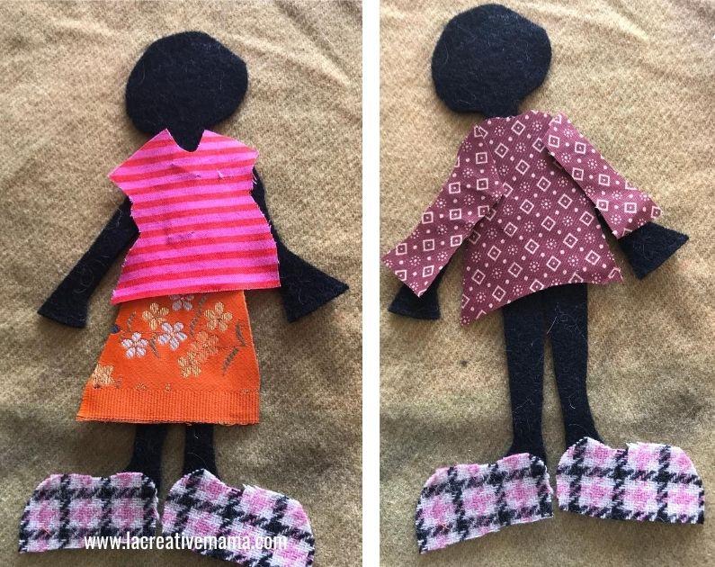 flat felt doll tutorial 7
