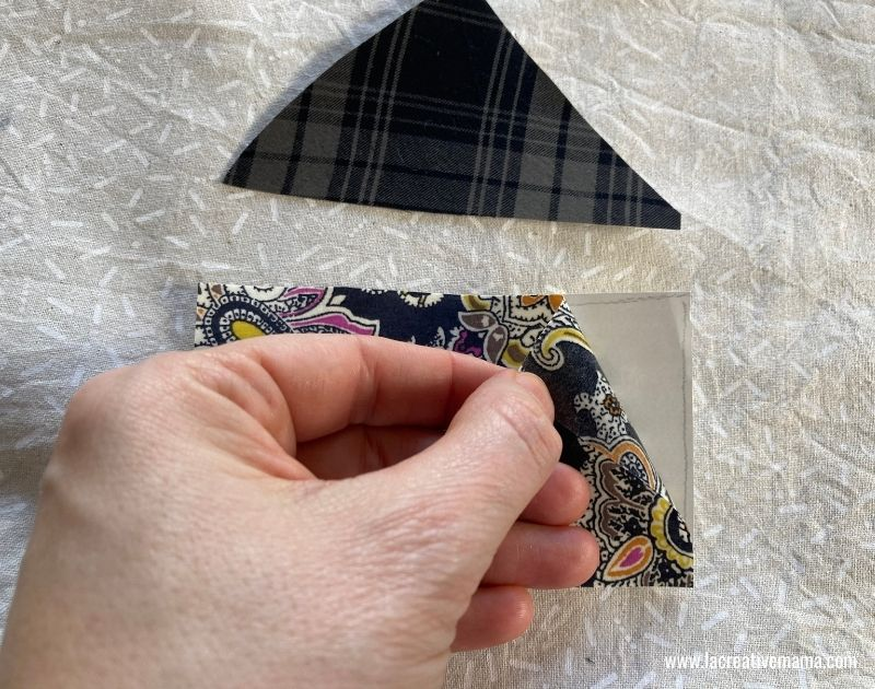 fabric collage applique for christmas pillow tutorial