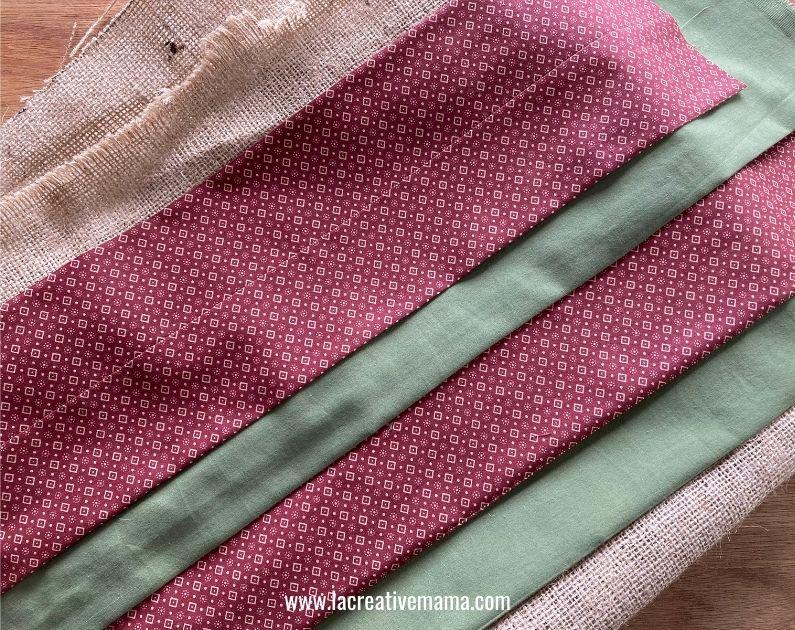 fabric pocket for the fabric calendar