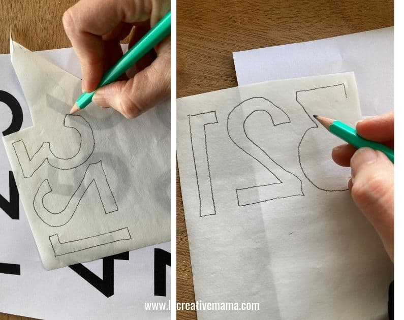 tracing the fabric applique