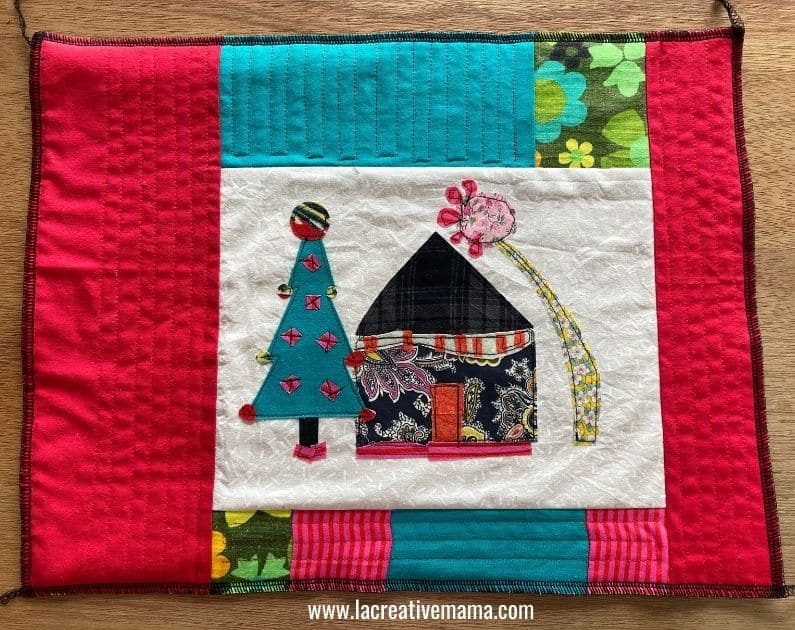 quilting the pillow top to make an envelope pillow