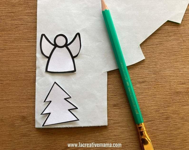 christmas gift tags tutorial using adhesive felt Christmas templates tutorial 2