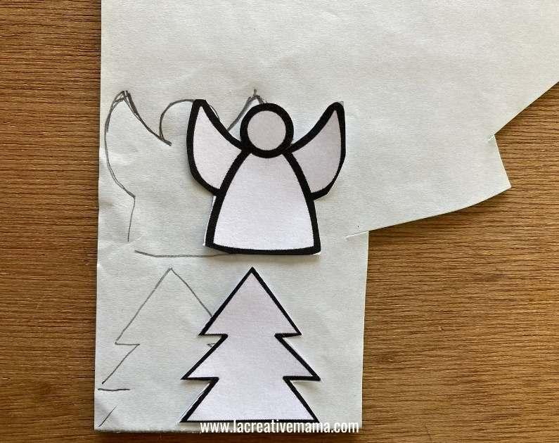 christmas gift tags tutorial using adhesive felt Christmas templates tutorial 3