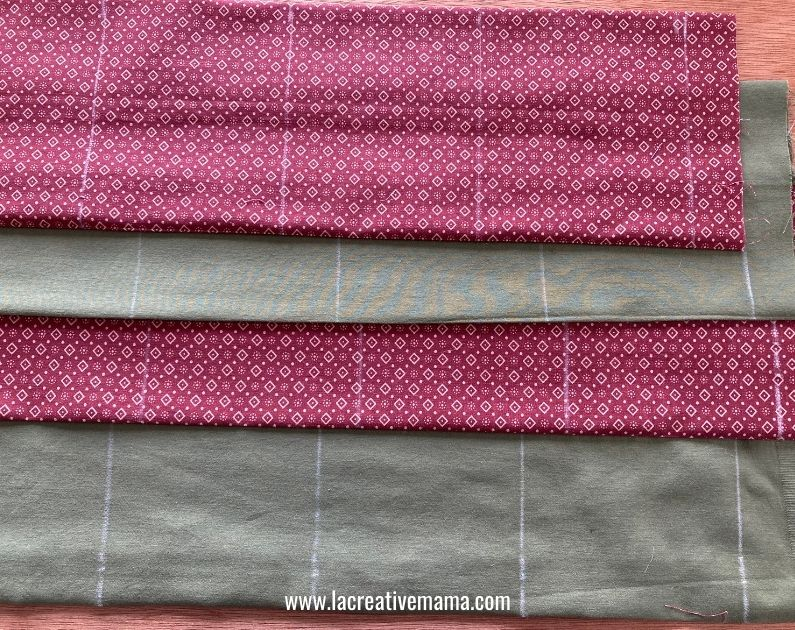 making the chalk marks on  fabric pockets for fabric christmas advent calendar