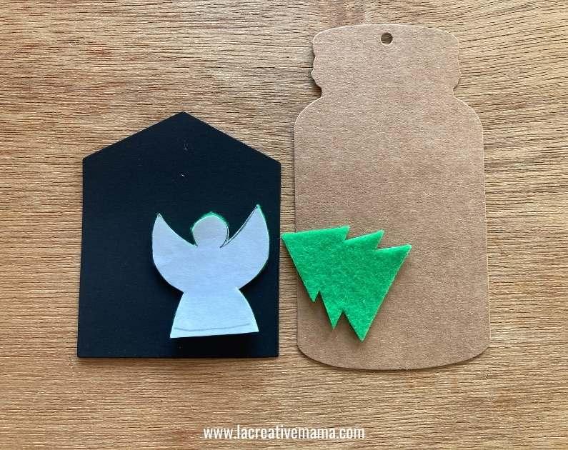 christmas gift tags tutorial using adhesive felt Christmas templates tutorial 4