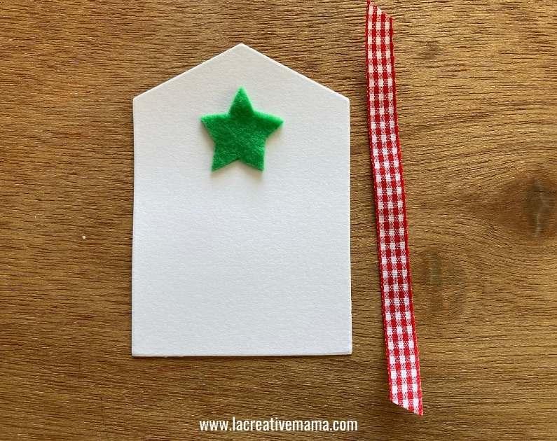 christmas gift tags tutorial using adhesive felt Christmas templates tutorial 7