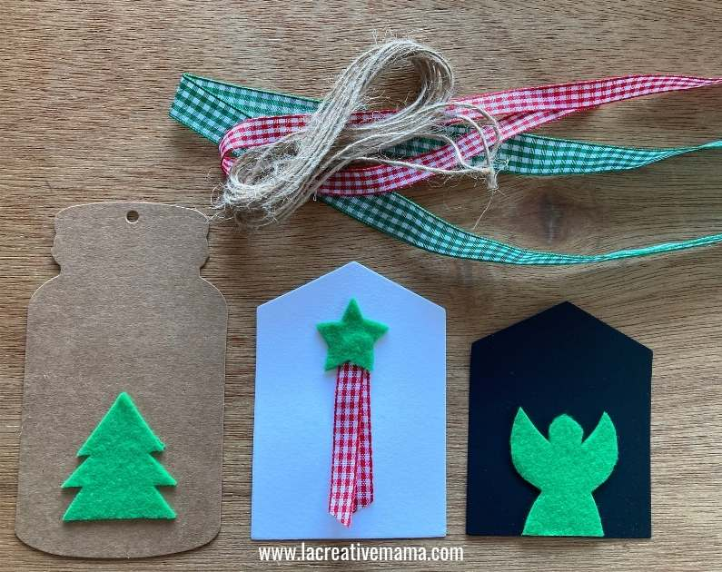 christmas gift tags tutorial using adhesive felt Christmas templates tutorial 8