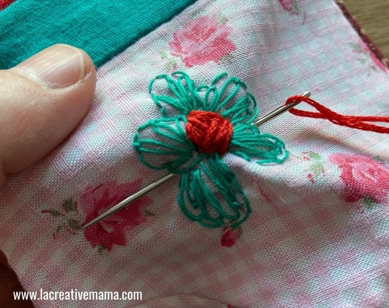 fabric face mask embroidery pattern printable tutorial 4