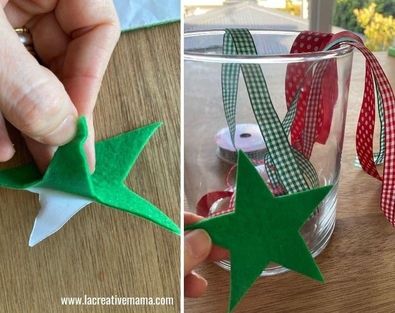 making christmas wish jars for kids using adhesibe felt christmas printable templates