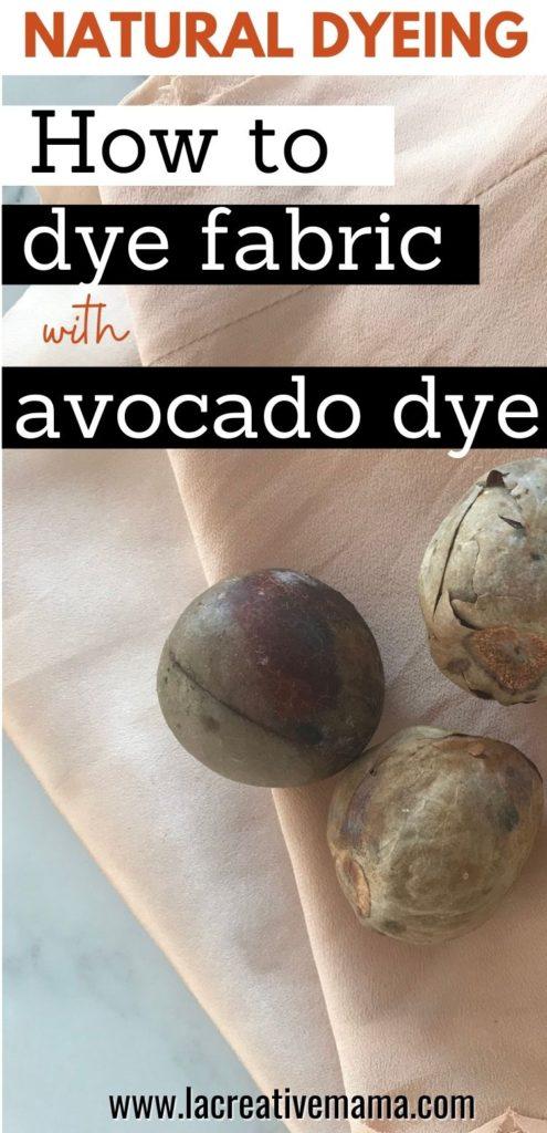 avocado pit dye